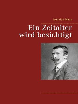 cover image of Ein Zeitalter wird besichtigt