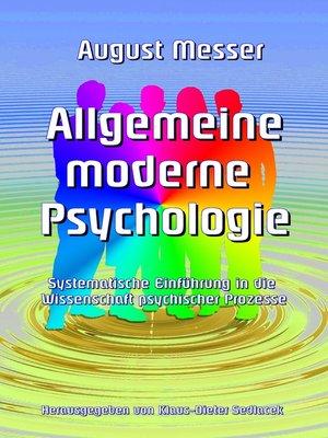 cover image of Allgemeine moderne  Psychologie