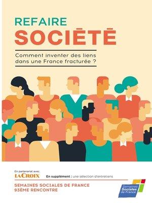 cover image of Refaire société