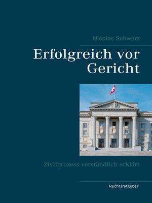 cover image of Erfolgreich vor Gericht