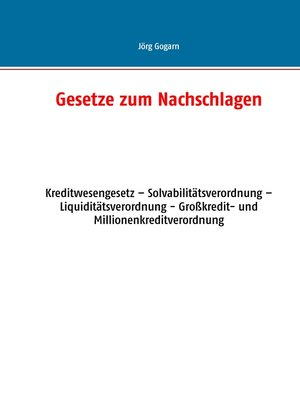 cover image of Gesetze zum Nachschlagen
