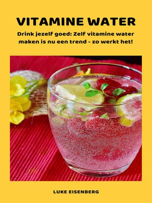 cover image of VITAMINE WATER--Drink jezelf gezond