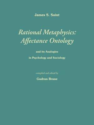 cover image of Rational Metaphysics--Affectance Ontology