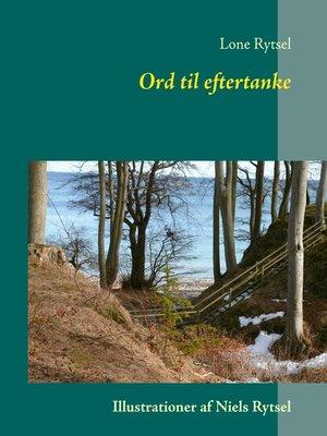 cover image of Ord til eftertanke