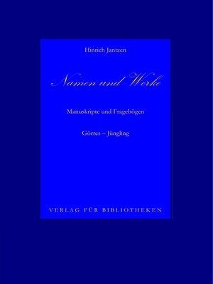 cover image of Namen und Werke 8