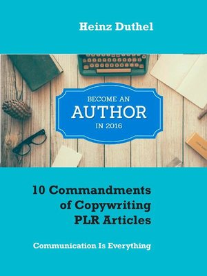 cover image of 10 Commandments of Copywriting PLR Articles