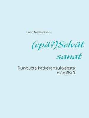 cover image of (epä?)Selvät sanat