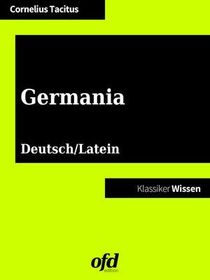 cover image of Germania--De origine et moribus Germanorum