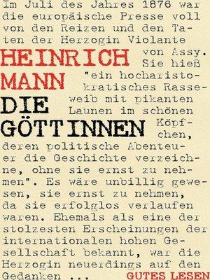 cover image of Die Göttinnen oder Die drei Romane der Herzogin von Assy