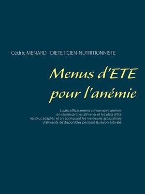 cover image of Menus d'été pour l'anémie