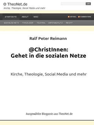 cover image of @ChristInnen--Gehet in die sozialen Netze