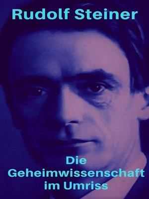 cover image of Die Geheimwissenschaft im Umriss