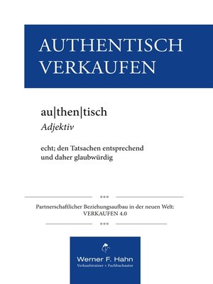 cover image of Authentisch Verkaufen