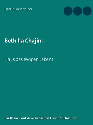 cover image of Beth ha Chajim