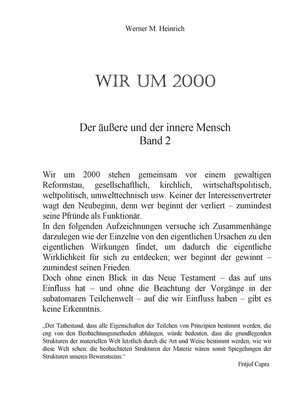 cover image of Wir um 2000-- Band 2