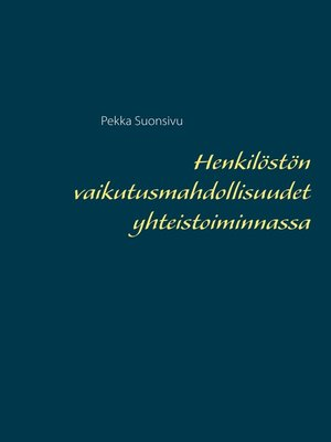 cover image of Henkilöstön vaikutusmahdollisuudet yhteistoiminnassa