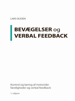 cover image of Kontrol og læring af motoriske færdigheder og verbal feedback
