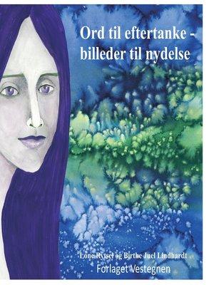 cover image of Ord til eftertanke--billeder til nydelse