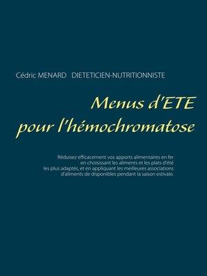 cover image of Menus d'été pour l'hémochromatose