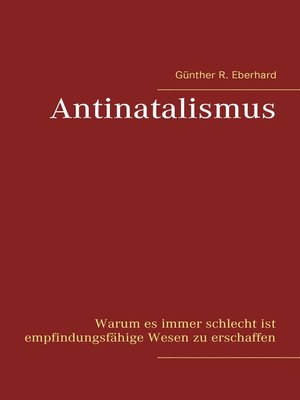 cover image of Antinatalismus