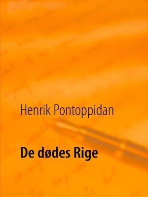 cover image of De dødes Rige