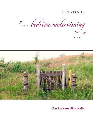 "cover image of ""... bedriva undervisning ..."""