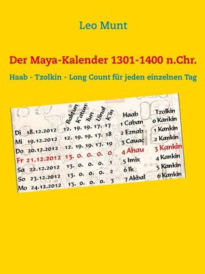 cover image of Der Maya-Kalender 1301-1400 n.Chr.