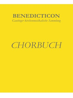 cover image of Benedicticon. Chorbuch