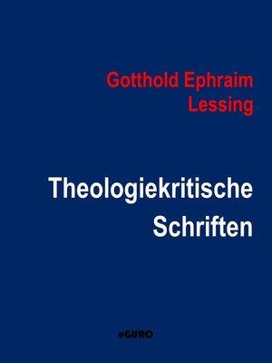 cover image of Theologiekritische Schriften
