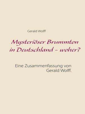 cover image of Mysteriöser Brummton in Deutschland--woher?