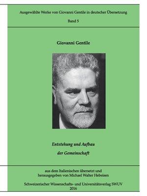 cover image of Entstehung und Aufbau der Gemeinschaft