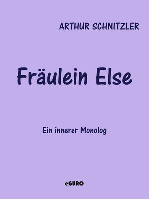 cover image of Fräulein Else
