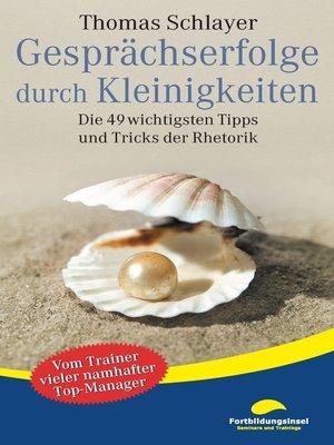 cover image of Gesprächserfolge durch Kleinigkeiten