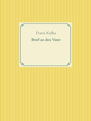 cover image of Brief an den Vater