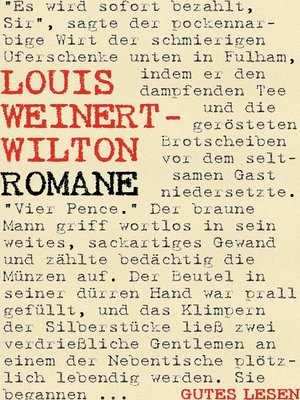 cover image of Louis Weinert-Wilton--Romane