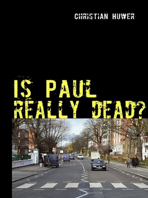 cover image of Is Paul really dead?
