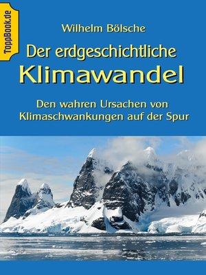 cover image of Der erdgeschichtliche Klimawandel