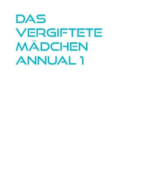 cover image of Das vergiftete Mädchen Annual 1