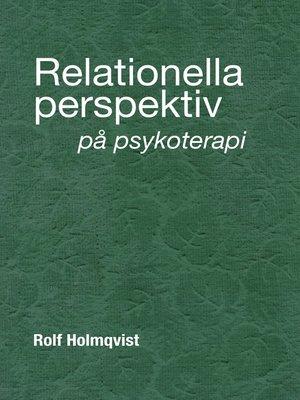 cover image of Relationella perspektiv på psykoterapi