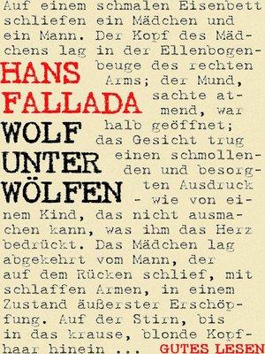 cover image of Wolf unter Wölfen
