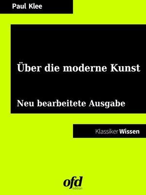 cover image of Über die moderne Kunst