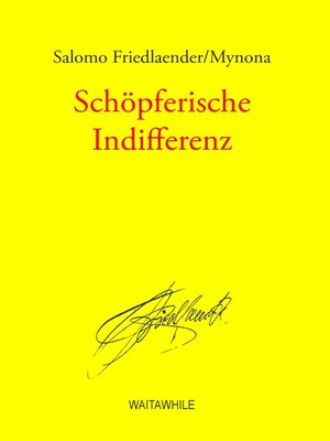cover image of Schöpferische Indifferenz