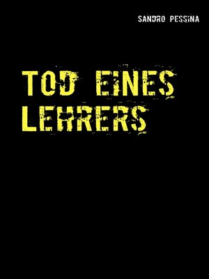 cover image of Tod eines Lehrers