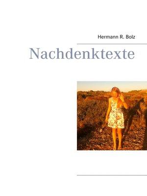 cover image of Nachdenktexte