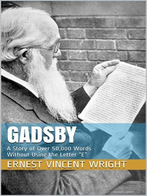 cover image of Gadsby