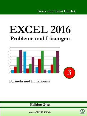 cover image of Excel 2016 . Probleme und Lösungen . Band 3