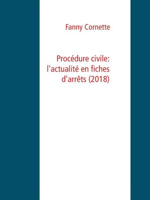 cover image of Procédure civile