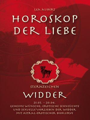 cover image of Horoskop der Liebe – Sternzeichen Widder