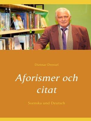 cover image of Aforismer och citat