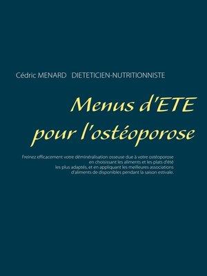 cover image of Menus d'été pour l'ostéoporose